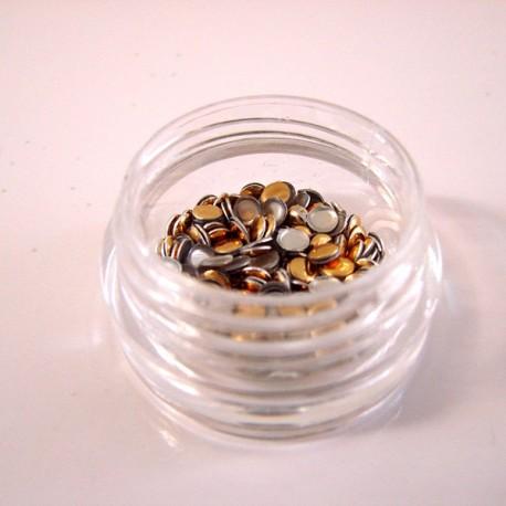 Trucks Νυχικό Στρογγυλό 3mm Ασημένιο-Χρυσό