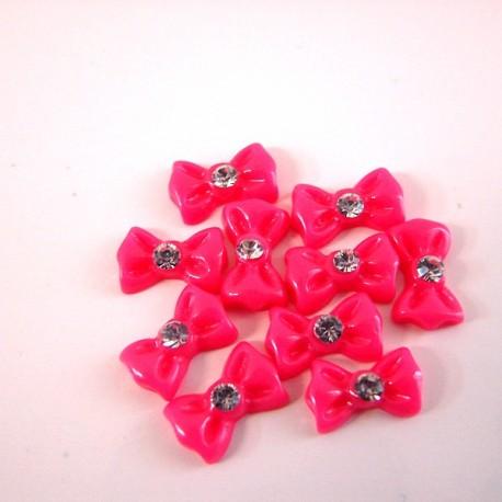 Bows - set 10 pcs - Fuchsia