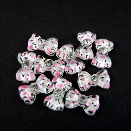 Bows - set 10 pcs - Black Lilac Transparent