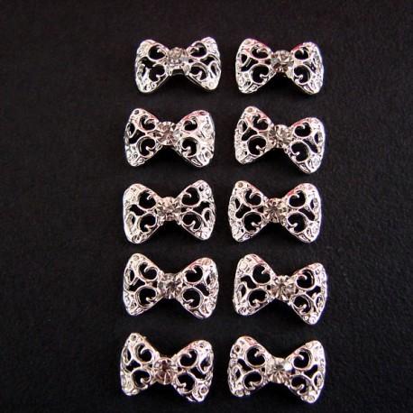 Bows - set 10 pcs - Metallic